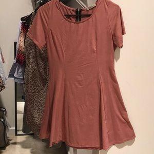Papaya dress mauve blush velvet cap sleeve